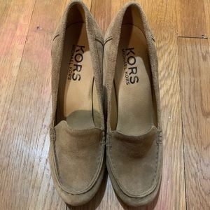 Michael Kors Heeled Suede Loafers